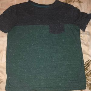 Boys cotton blend color block heather pocket tee